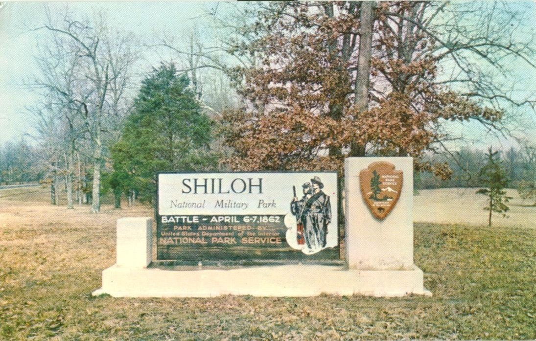 Entrance, Shiloh National Military Park, Shiloh, Tennessee, unused Postcard
