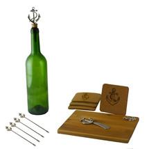 Wine & Cheese 11-pc Charcuterie Cutting Board Set Silver Anchor Handles - $27.83