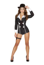 Roma Mischievous Mobster Babe Romper Gangster Costume W/WO HAT GUN S/M M... - $50.00+