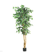 6' LARGE Artificial Ficus Silk Tree Fake Plant Potted Decor Yard Outdoor... - $59.99