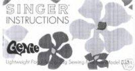 LARGER 6 1/2x11 Singer Genie 353 Machine Owner Manual L - $12.99