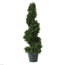 NEW 2' INDOOR OUTDOOR ARTIFICIAL SILK CEDAR SPIRAL TOPIARY TREE - 5160 - $61.99
