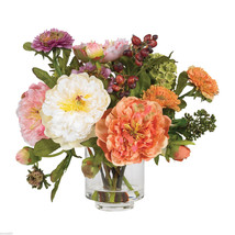 Peony Silk Flower Arrangement Nearly Natural - $50.99