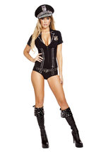 Sexy Roma Lusty Law Enforcer Cop Police Halloween Costume W/WO EXTRAS S ... - $85.00+