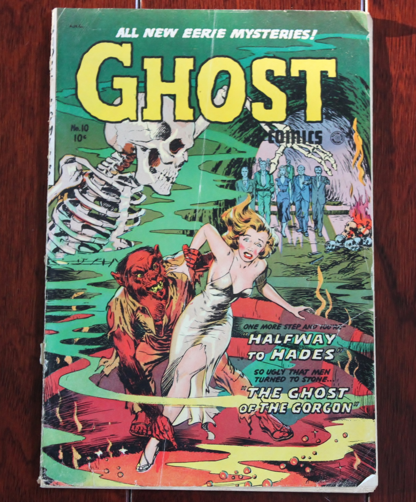 Ghost No.10 1954 Eerie Mysteries Fiction House Comic Book