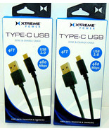 (Lot of 2) Xtreme Power USB Type-c Charge Cable 4ft each NEW IN BOX Ship... - $3.96