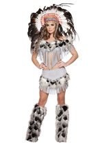Roma Native American Lusty Indian Maiden Halloween Costume W/WO EXTRAS S... - $78.00+