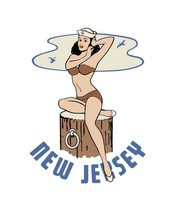 Travel-Hum Hot Rat Rod Vinyl Decal New Jersey Pinup #49 - $2.95