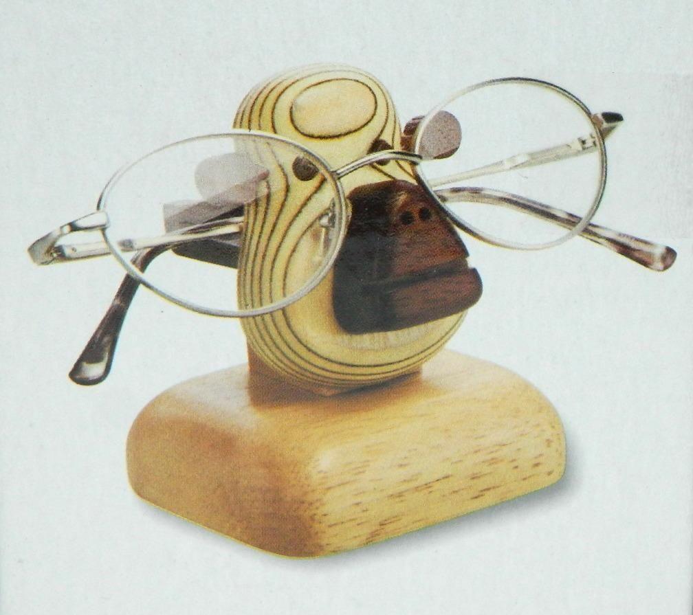 wood monkey eyeglasses holder eye glasses stand