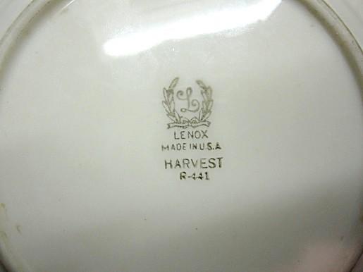 Plate Bread Butter Lenox Harvest