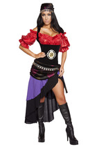 Roma Sexy Gypsy Maiden Fortune Teller Halloween Complete Costume S M L 4532 - $105.00