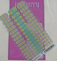 Jamberry Glitter Chick Jr 58J9 Nail Wrap Full Sheet with cut corner - $10.88