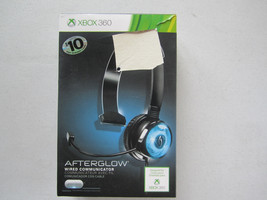 Official Xbox 360 PDP Blue Afterglow Light Wired Communicator Headset $1... - $15.14