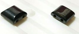 10pcs. Magnetic Hematite Flat Square Beads 10x10mm 2-Hole image 2