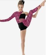 NEW Weissman Child Large Modern Dance Leotard Unitard Costume Pink Black... - $26.18