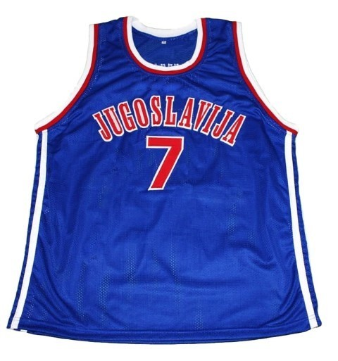 Toni kukoc  7 jugoslavija new men basketball jersey blue   1