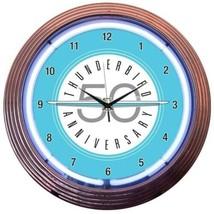 "Ford Thunderbird '50 Anniversary' Neon Clock 15""x15"" - $72.99"