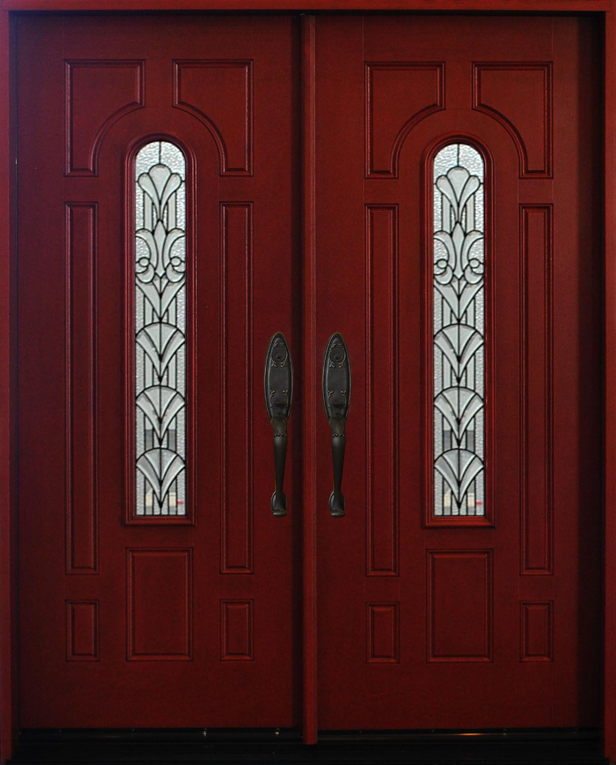 Exterior Front Entry Double House Fiberglass Door M280a 30 X 80 X2 Dbl Doors
