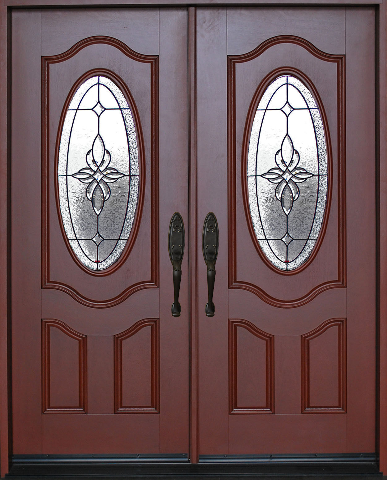 Exterior front entry double house fiberglass door m800b 30 for Upvc front door 78 x 30