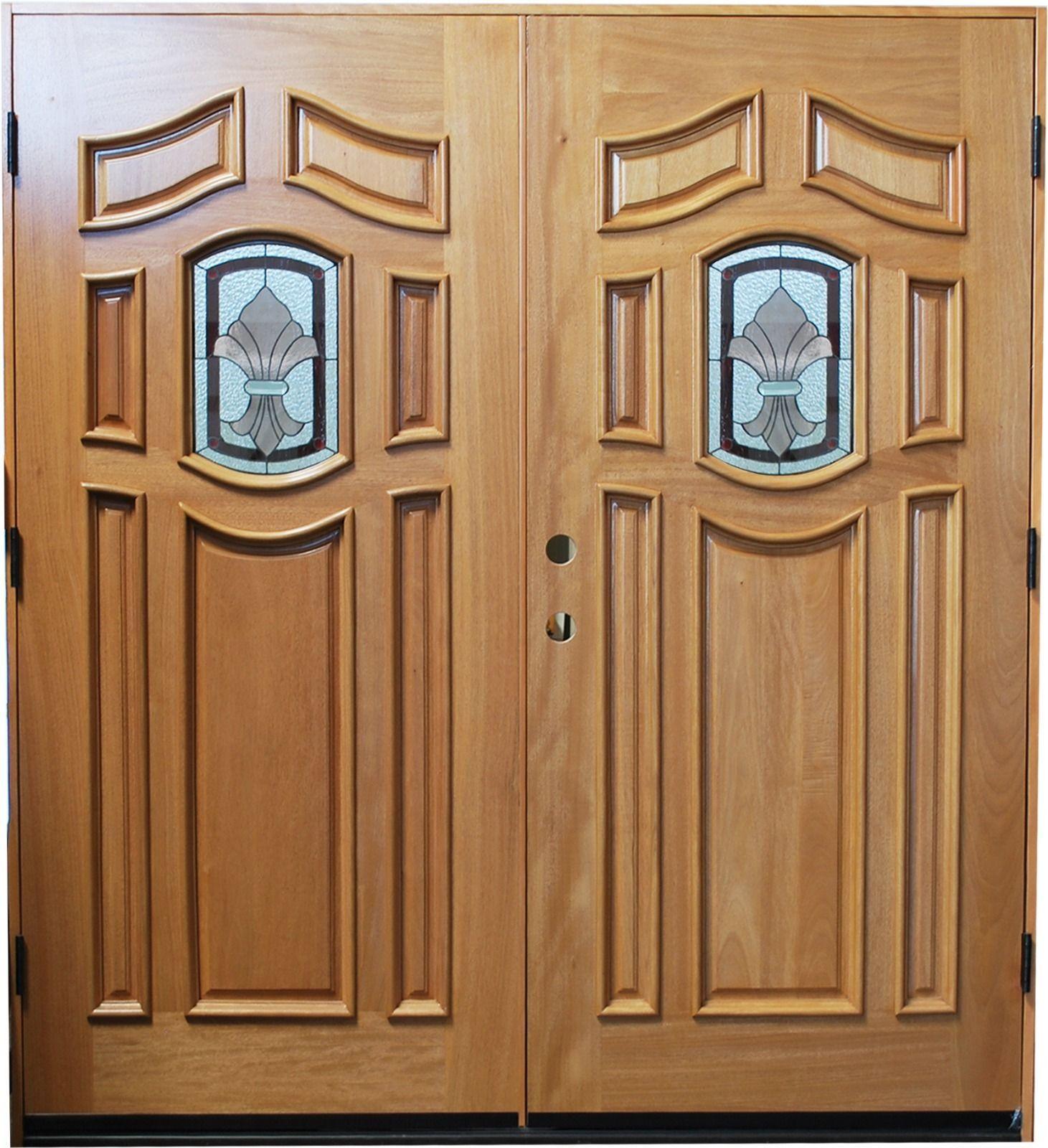 6 39 X 6 39 8 Exterior Front Entry Door With 2 Tone Finish Doors