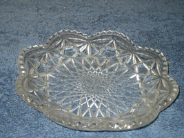 Vintage AVON Clear Glass Scalloped Beaded Candy Relish Nut Dish - $9.46