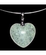 Heart Pendant Necklace Lemon Lime Khaki Silver Tone Metal Wire New Unused - $19.99