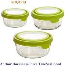 USED Anchor Hocking 6-Piece TrueSeal Food Stora... - $21.78