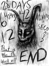 "Donnie Darko Frank the Rabbit  8.5"" x 11"" ink drawing horror halloween - $99.99"