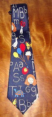 School Tie Letters Scissor Teacher Education Teaching Novelty Necktie Fratello
