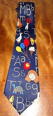 School Tie Letters Scissor Teacher Education Teaching Novelty Necktie Fratello image 5