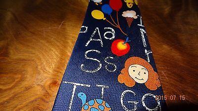 School Tie Letters Scissor Teacher Education Teaching Novelty Necktie Fratello image 6