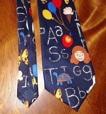 School Tie Letters Scissor Teacher Education Teaching Novelty Necktie Fratello image 10