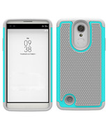 Op protection hybrid case cover for lg fortune v1 k4 2017 cyan gray p20170310064637757 thumbtall
