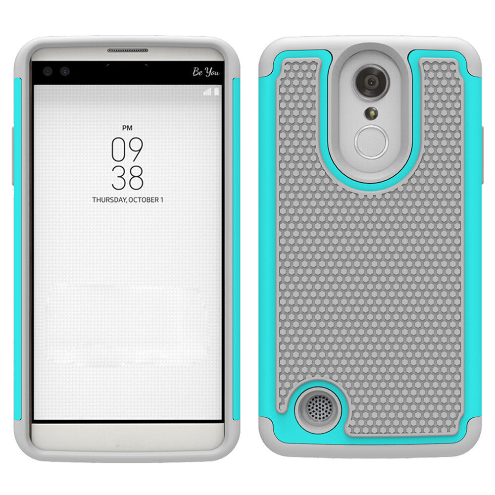 Orption drop protection hybrid case cover for lg fortune v1 k4 2017 cyan gray p20170310064637757