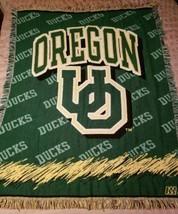 Vintage Made In USA Univ. Oregon Ducks Blanket UO The Northwest Company Acrylic - $48.99