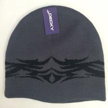 Decky Brand Tribal Design Beanie Ski Cap Grey Metal Punk Rock Biker NEW - $13.99