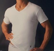 1 Polo Ralph Lauren Men's Cotton T Shirt / Undershirt White V Neck S M L Xl Xxl - $16.60
