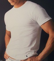 1 Polo Ralph Lauren Mens Cotton T Shirt /Undershirt White Crew Neck S M L Xl Xxl - $12.99