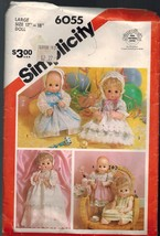 "Simplicity Doll Pattern Number 6055 Large 17"" - 18"" Doll Uncut - $4.89"