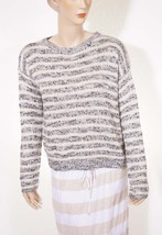 Denim Supply Ralph Lauren Womens Beige Grey Stripe Crewneck Pullover Swe... - $950,53 MXN