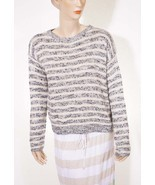 Denim Supply Ralph Lauren Womens Beige Grey Stripe Crewneck Pullover Swe... - $64.91 CAD