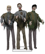 Animated Life Size Walking Dead ZOMBIE HORDE Halloween Prop  SEE VIDEO - $252.09