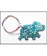 AUTH NWB Hermes HAATI ELEPHANT Animal Keyring Keychain or Bag Charm BLUE... - $550.00