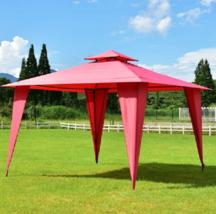 Outdoor Party Gazebo 11x11 Backyard Canopy Tent Patio Large Sunshade Gaz... - $192.46