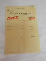 Vintage 1926 Paper Receipt Drink Coca-Cola Harvey Hines Kinston NC - $10.20