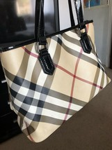 Authentic Burberry Nova Check Plaid Tote - $281.36