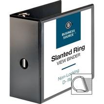 Business Source 5-Inch Slant Ring View Binder - Black - $20.55