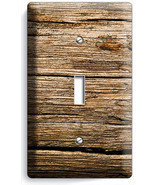 WORN OUT OLD RUSTIC WOOD SINGLE LIGHT SWITCH WALL PLATE KITCHEN LOG CABI... - $9.89