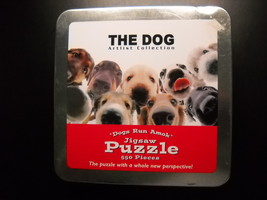 USAopoly Jigsaw Puzzle The Dogs Dogs Run Amok Open Tin Sealed Pieces 550... - $12.99