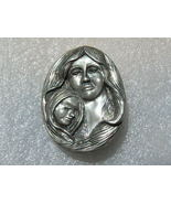 Pewter Mother And Daughter Pin. Family Pin Jewelry. - $10.00